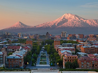 In the capital city of Yerevan in Armenia, the language that they speak is in the satem group.