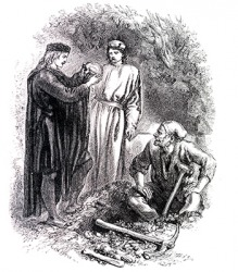 Hamlet by Shakespeare is an example of a satirical story.