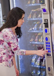 Serena purchased a bag of potato chips from the vending machine to satisfy her afternoon craving for a salty snack.
