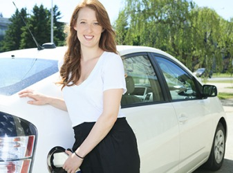 Saving money on gasoline is important to Mackenzie, so she purchased a hybrid car.