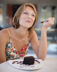 Naomi savored the chocolate cake that she ordered at the restaurant because she was starting a paleo diet on Monday.