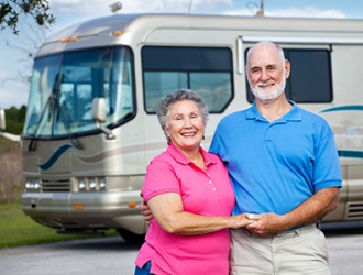 Margaret and Randall decided to scale up to a luxury motor home because they enjoy traveling the U.S. for several months at a time.