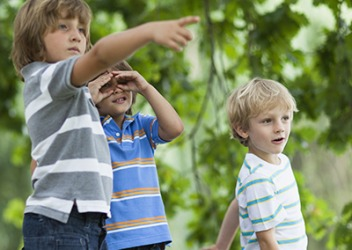 A scavenger hunt is a fun way for kids to practice teamwork and problem solving.