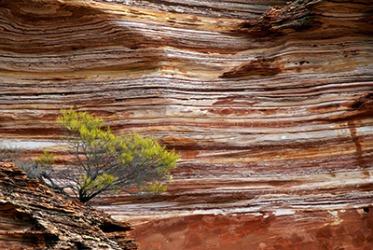 An example of sedimentary rock layers near Kalbarri Western Australia.