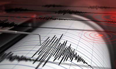 The seismic activity of an earthquake is recorded on a seismograph.