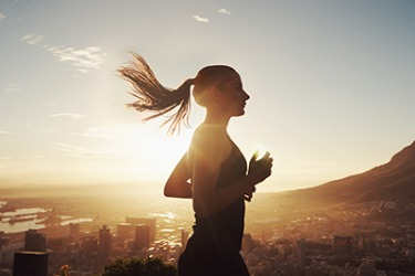 Irene jogs as soon as the sun rises so that she can seize the cool, fresh morning air.