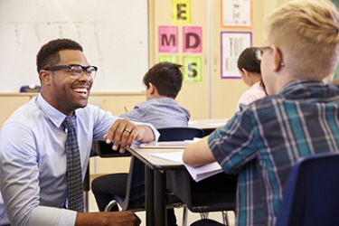 Mr. Griffin evolved into his self-definition as an upbeat and inspiring teacher over the course of his career.