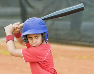 It is important to be self-confident when up at bat in the game of baseball.