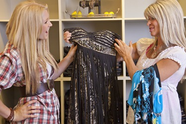 Keri tried to convince her mom to purchase the dress for herself mostly out of self-interest because she had plans to borrow it for a party.