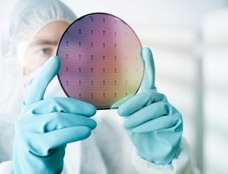 The silicon wafer is the most widely used semiconductor for electronic devices such as cell phones.