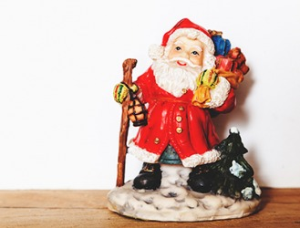 The Santa figurine is a little odd, but it has sentimental value so my mother displays it on the mantle every Christmas.