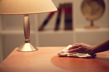 Cleaning the dust that settles on furniture once per week can help to minimize allergy symptoms.