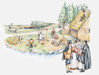 One of the first settlements in America founded by the pilgrims was in Plymouth, Massachusetts in 1620.