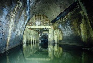 A sewer under the city.