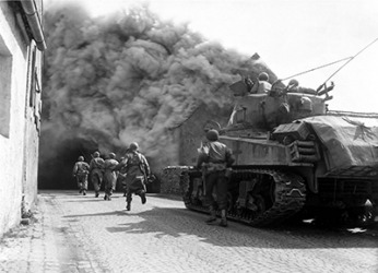 Soldiers fighting in WWII often suffered from shell shock which is much like the current diagnosis of PTSD (Post Traumatic Stress Disorder) that soldiers experience today.