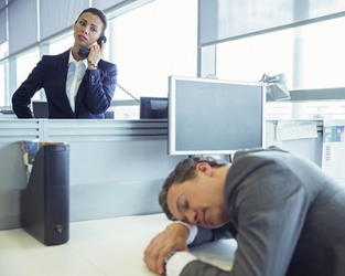 Clayton regularly shirks his responsibilities at work by claiming he suffers from narcolepsy.