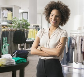 The majority of the shopkeeping is handled by the general manager of the clothing store.
