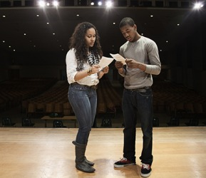 Jaylah and Charles were put on the shortlist after trying out for the lead roles in the high school play.