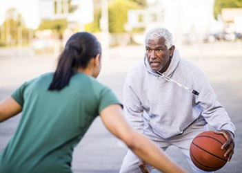 Clarence figured he would show out playing one-on-one basketball with his granddaughter to prove that he still had skills.
