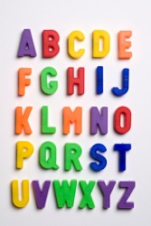 Alphabet letters for children.