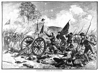 During the American Civil War, soldiers would not only shoot cannonballs but would also shoot case shot from cannons which was a hollow shell filled with shrapnel used specifically to target soldiers.