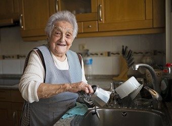 Eugenia is a shut in but she has many family members who help her run errands.
