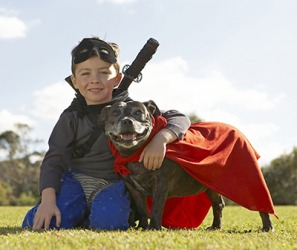 Devin and his sidekick Mighty Mutt protect the world from injustice.