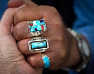 Native Americans are skilled craftsmen producing beautiful and intricate silver jewelry.