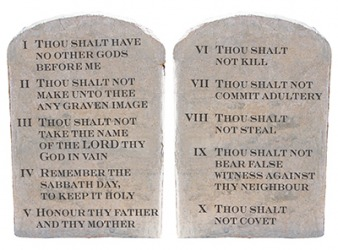 The Ten Commandments instructs people to eschew all of those sins.