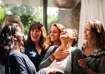 The group of women are grateful for their bond of sisterhood because they can always rely on each other for support.