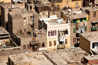 A slum in Cairo, Egypt.
