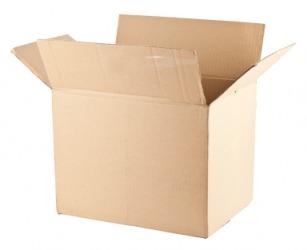 A plain cardboard box.