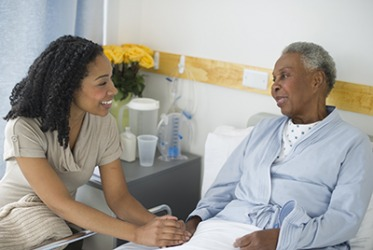 Beverly is the advocate for her mother during her stay at the hospital.