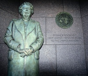Eleanor Roosevelt was a champion of human rights and social justice by advocating for equal rights of all races, women and the working class.