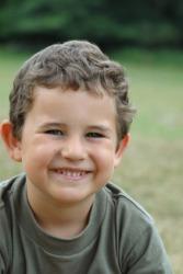 A happy young boy.