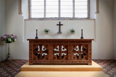 A Christian altar.