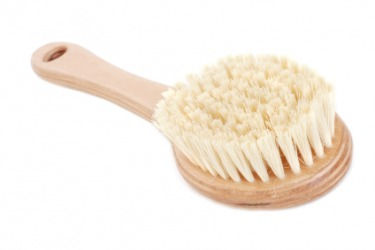 A brush with natural hair bristles.