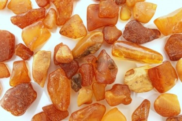 Several pieces of amber.