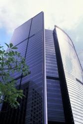 A modern office building.