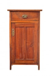 An old wooden cabinet.
