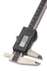 A digital electronic caliper.