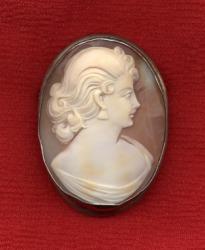 A cameo brooch.