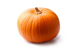 Pumpkins are usually orange.
