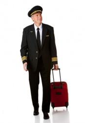 An airline pilot, or captain.