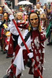 A carnival parade in Germany.