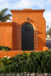 A bright orange casita.