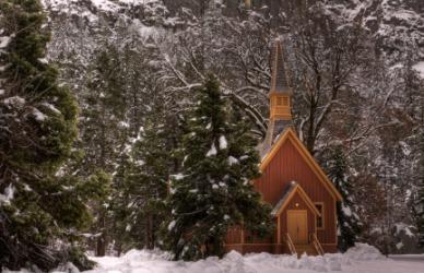 The small chapel in Yosemite.