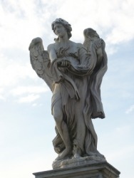 A statue of an angel.