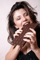 This woman might be a chocoholic.
