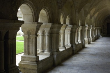 The cloister of a French monastery.